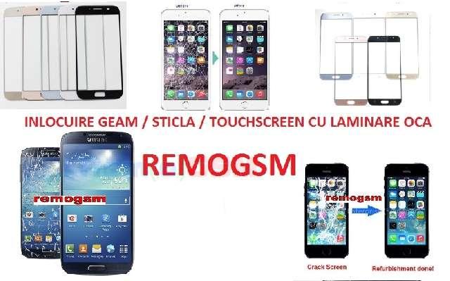 inlocuire geam touchscreen sticla display huawei honor 7x bleu