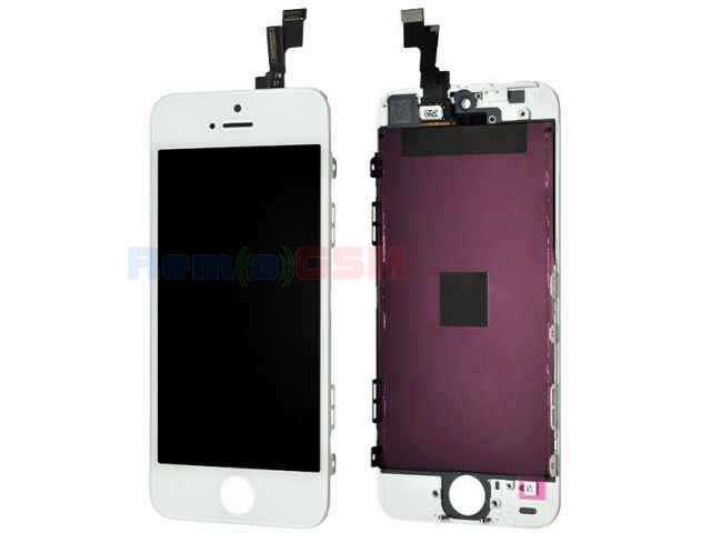 inlocuire display cu touchscreen si rama apple iphone 5s alb