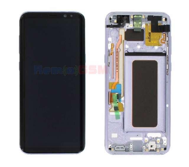 display cu touchscreen si rama samsung sm-g955f galaxy s8 plus orchid gray oem gh97-20470c