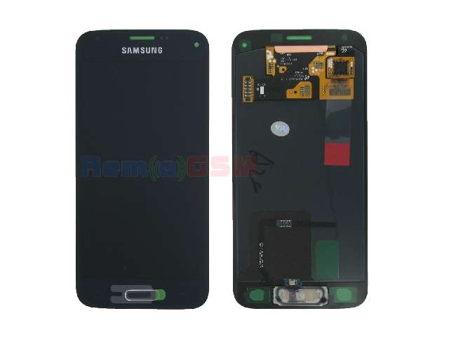 inlocuire set display touchscreen samsung galaxy s5 mini g800 negru oem gh97-16147a
