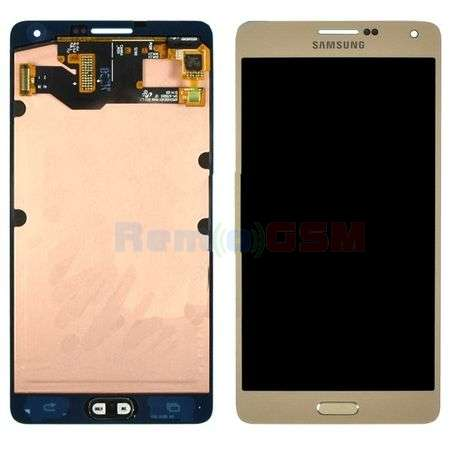 schimbare display cu touchscreen samsung sm-a700f galaxy a7 2015 gold oem