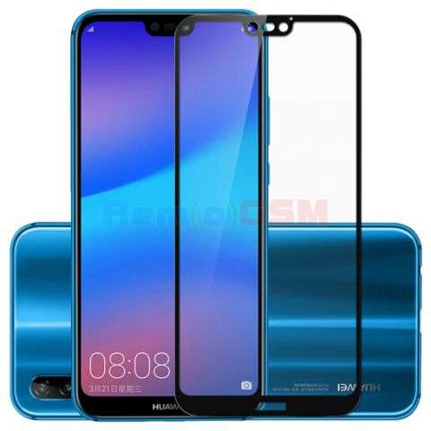 geam folie protectie 015mm huawei p20 lite ane-lx1 5d curved and full cover negru