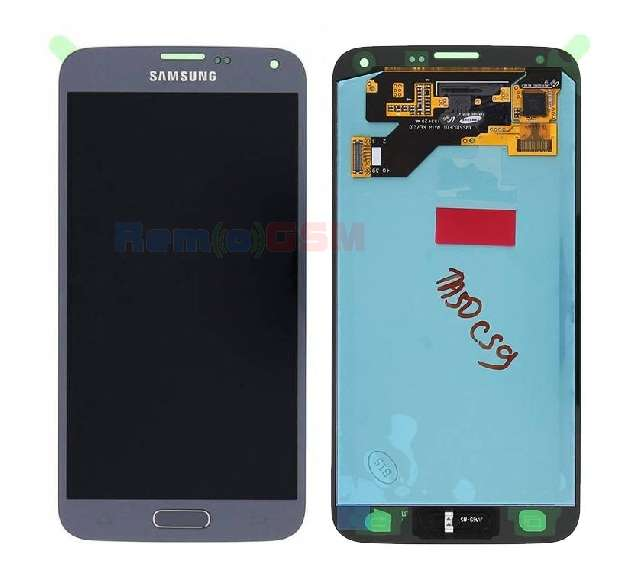 inlocuire display set complet cu touchscreen samsung galaxy s5 neo g903 silver oem gh97-17787b