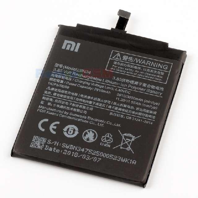 inlocuire acumulator baterie xiaomi redmi 5a m5a bn34