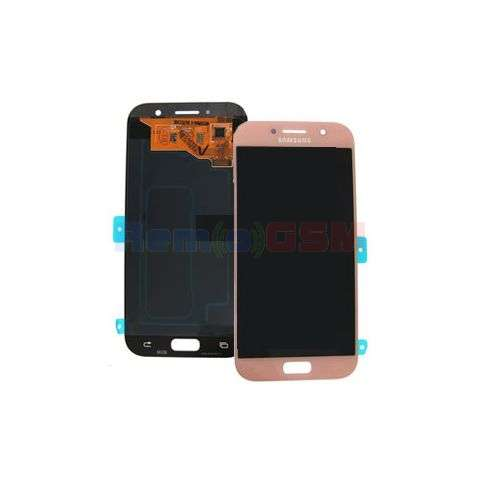 inlocuire display touchscreen samsung sm-a520f galaxy a5 2017 pink oem gh97-19733d