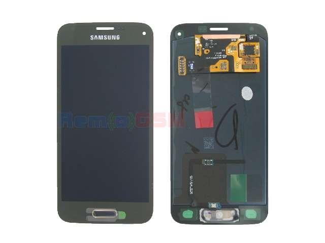 schimbare display touchscreen samsung galaxy s5 mini g800 gold oem gh97-16147d