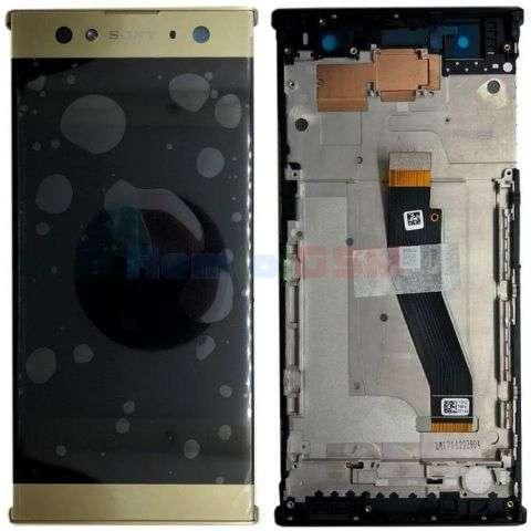 inlocuire display cu touchscreen si rama sony h4213 xperia xa2 ultra gold silver