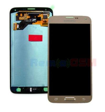 inlocuire display set complet cu touchscreen samsung galaxy s5 neo g903 gold oem gh97-17787b