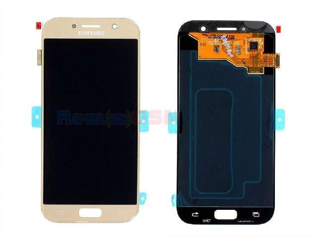 inlocuire display touchscreen samsung sm-a520f galaxy a5 2017 gold oem gh97-19733b