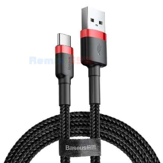 cablu date incarcator baseus cafule cable usb for type-c 3a 05m red +