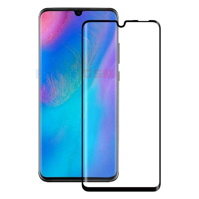 geam folie protectie 015mm huawei p30 lite mar-l01a mar-l21a mar-lx1a 5d curved and full cover negru