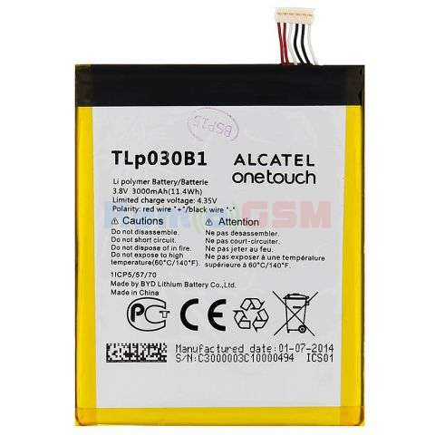 inlocuire baterie acumulator alcatel tlp020k2 ot-7049flash 2 onetouch pop s7