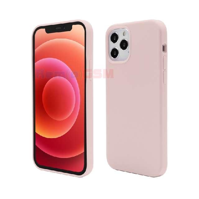 husa de protectie vetter pentru iphone 12 pro max clip-on soft touch silk series pink