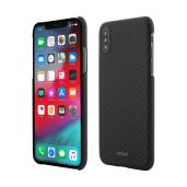 husa de protectie vetter pentru iphone xs x clip-on ultra slim aramid fiber kevlar magnetic black