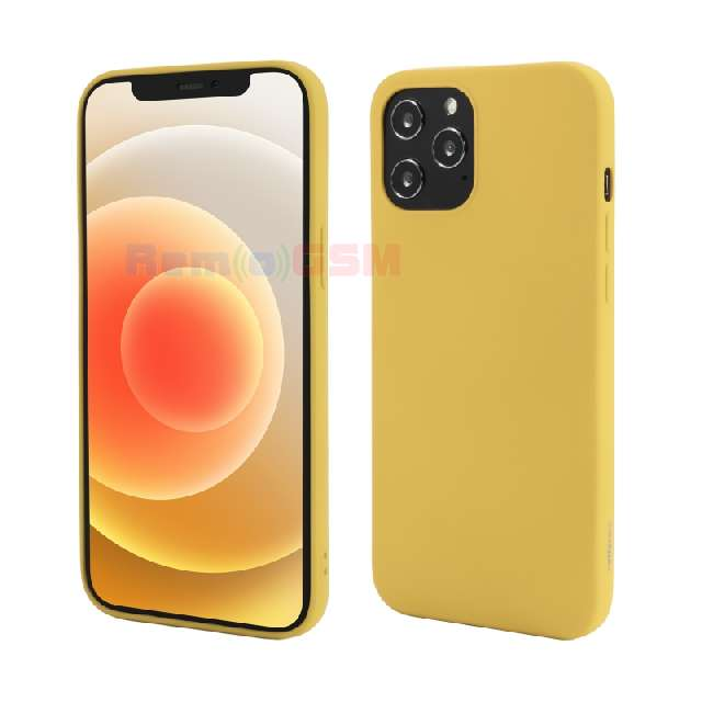 husa iphone 12 pro max vetter go soft touch yellow