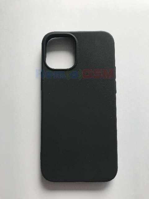 husa silicon negru mat iphone 12 pro max
