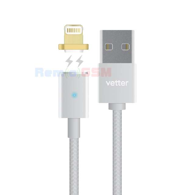 cablu de date incarcare vetter magnetic lightning cableiphone apple silver