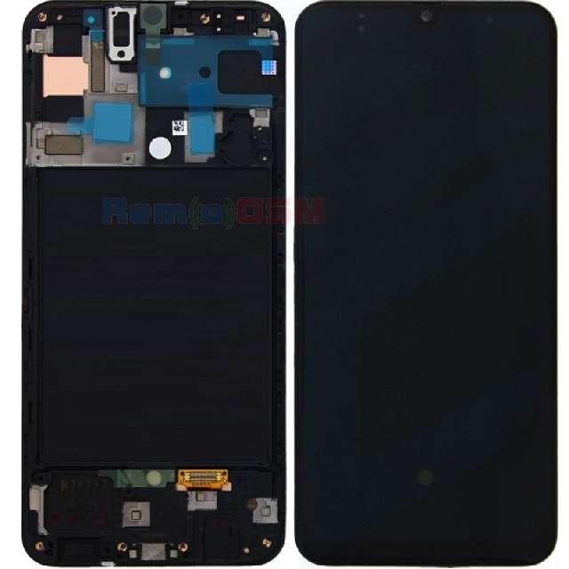 inlocuire display cu touchscreen si rama samsung sm-a505f galaxy a50 oem