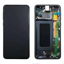 inlocuire display cu touchscreen si rama samsung sm-g970f galaxy s10e s10 lite negru oem