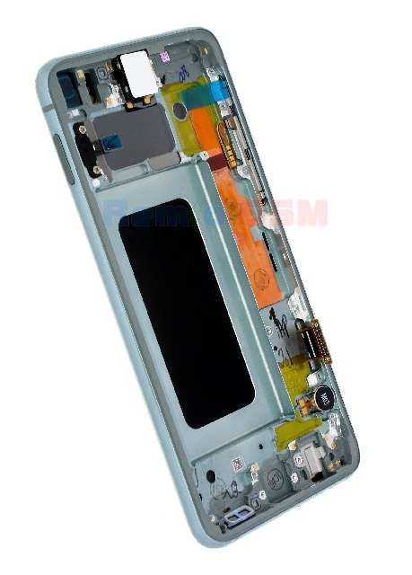 inlocuire display cu touchscreen si rama samsung sm-g970f galaxy s10e s10 lite verde oem