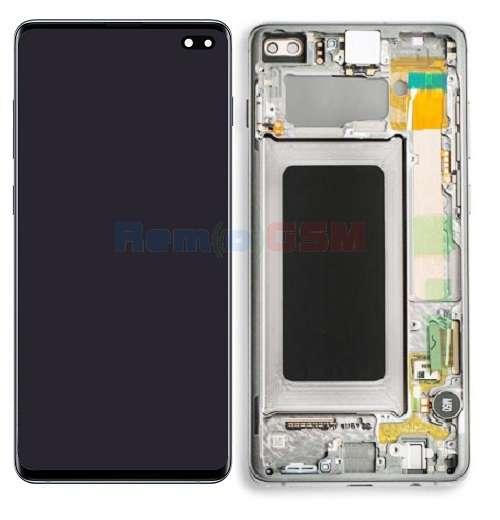 inlocuire display cu touchscreen si rama samsung sm-g975f galaxy s10 plus alb oem
