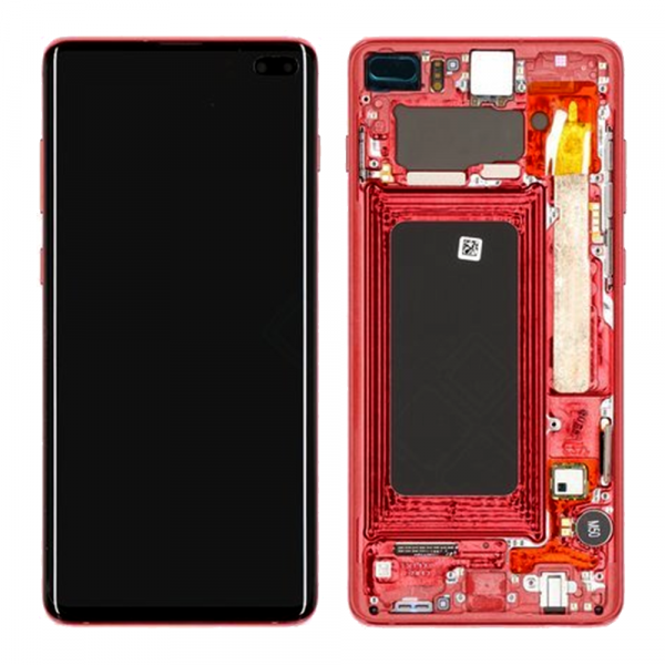 inlocuire display cu touchscreen si rama samsung sm-g975f galaxy s10 plus red cardinal oem
