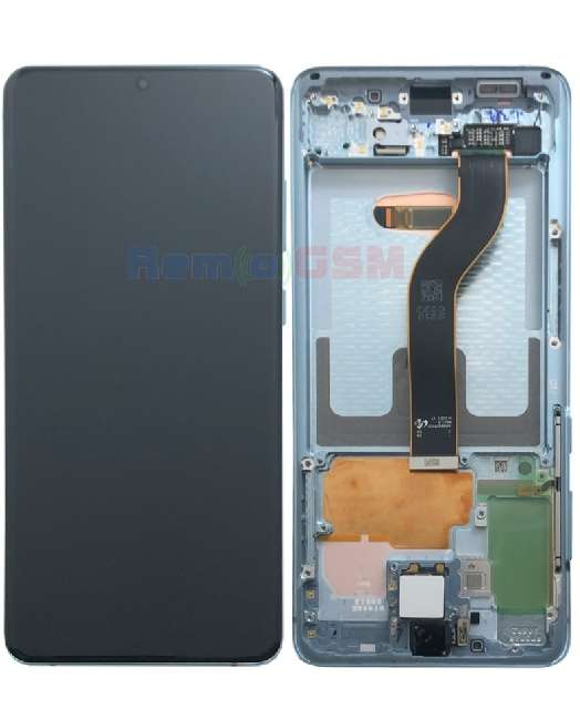 inlocuire display samsung galaxy s20 plus g985f g986b cold blue oem