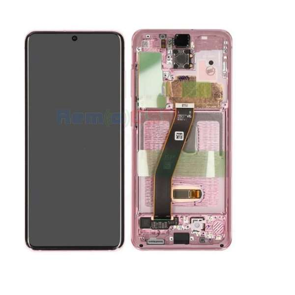 inlocuire display set complet samsung s20 5g g980f g981f cloud pink oem