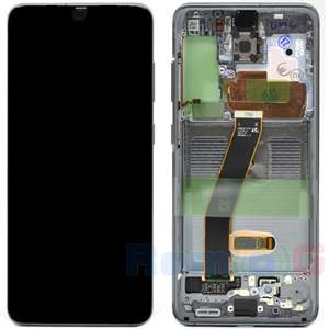 inlocuire display set complet samsung s20 5g g980f g981f cosmic grey oem