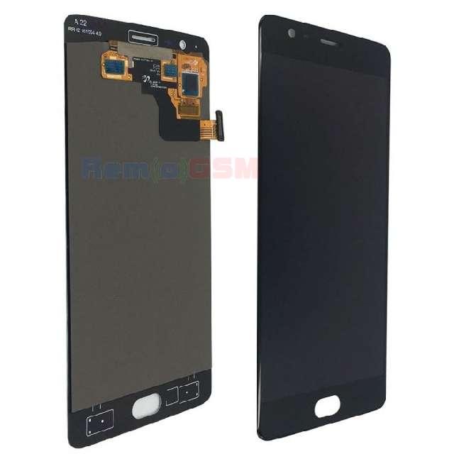 inlocuire ecran display cu touchscreen oneplus 3 negru