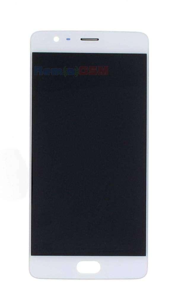 inlocuire ecran display cu touchscreen oneplus 3 alb