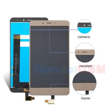 inlocuire set display touchscreen xiaomi redmi note 4 gold