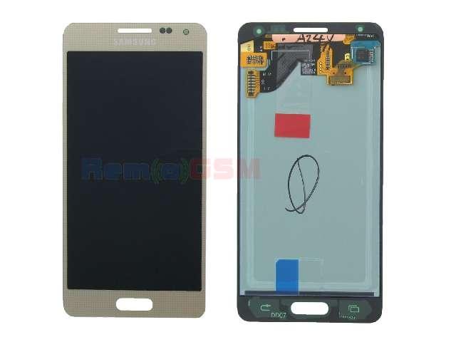 inlocuire set display touchscreen samsung galaxy alpha sm-g850f gold oem gh97-16386b