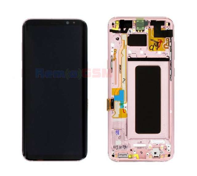 display cu touchscreen si rama samsung sm-g955f galaxy s8 plus pink oem gh97-20470f