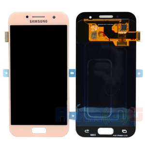 inlocuire display touchscreen samsung sm-a320f galaxy a3 2017 pink oem gh97-19732d