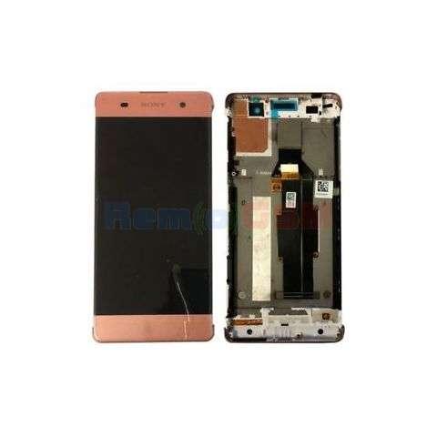 inlocuire display cu touchscreen si rama sony xperia xa xa dual f3111 f3113 f3115 rose - gold