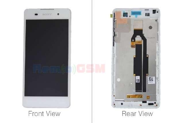 inlocuire display cu touchscreen si rama sony f3311 f3313 xperia e5 alb