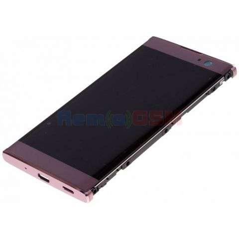 inlocuire display cu touchscreen si rama sony h3113 xperia xa2  h4113 xperia xa2 dual roz