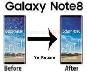 inlocuire geam sticla ecran display samsung note 8 n950 negru