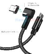 cablu de date incarcare vetter type-c to type-c with magnetic connector nylon braided