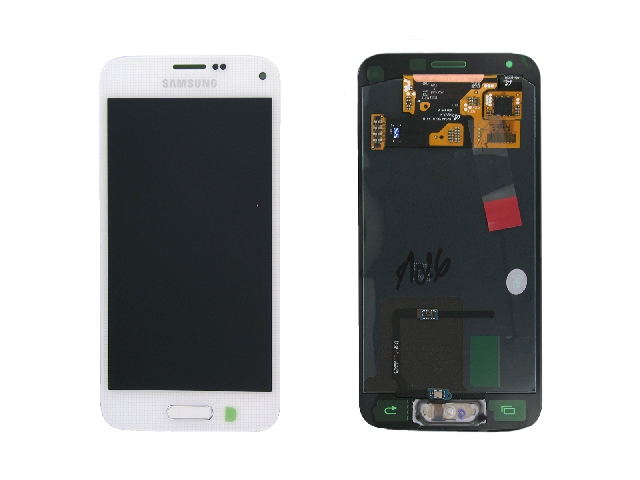 schimbare display cu touchscreen samsung galaxy s5 mini g800 alb original gh97-16147b