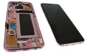 inlocuire display cu touchscreen si rama samsung galaxy s8 g950f pink roz gh97-20457e
