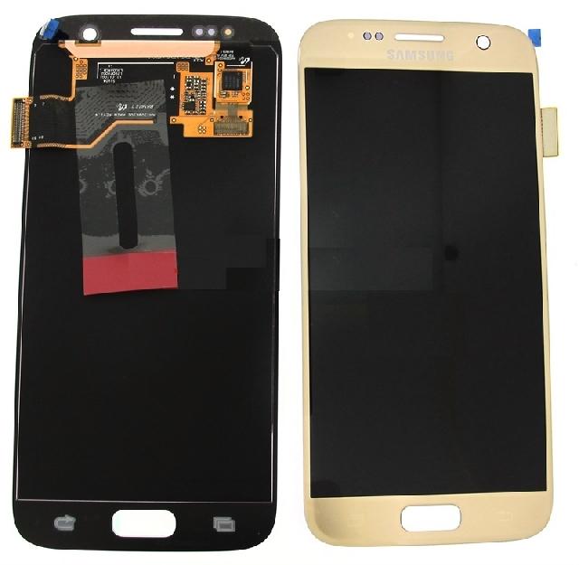 inlocuire display cu touchscreen samsung sm-g930f galaxy s7 gold original