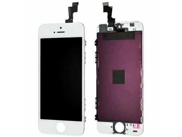 inlocuire display cu touchscreen si rama apple iphone 5s alb original