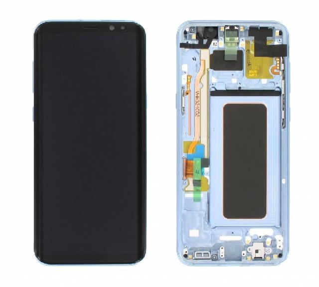 display cu touchscreen si rama samsung sm-g955f galaxy s8 plus blue gh97-20470d