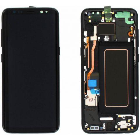 inlocuire display cu touchscreen si rama samsung sm-g950f galaxy s8 original