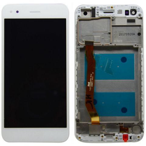 inlocuire display cu touchscreen carcasa huawei p9 lite mini y6 pro 2017 alb