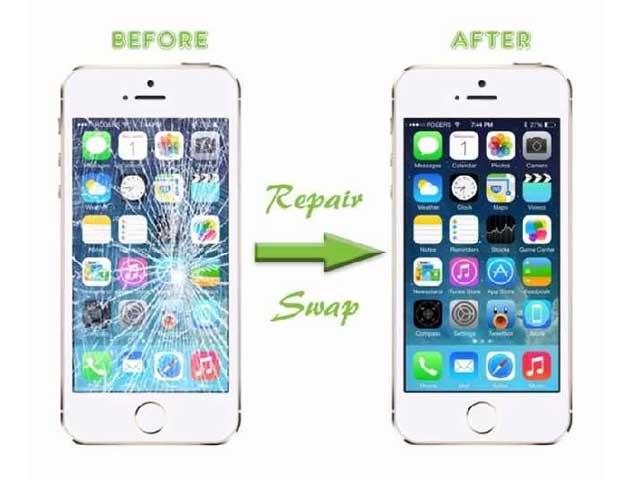 inlocuire schimbare sticla geam ecran iphone 6 plus alb original