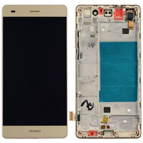 inlocuire carcasa cu display si touchscreen huawei p8 lite ale-l21 auriu