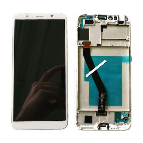 inlocuire display touchscreen si rama huawei y6 2018 alb atu-lx1 atu-l11 atu-l21